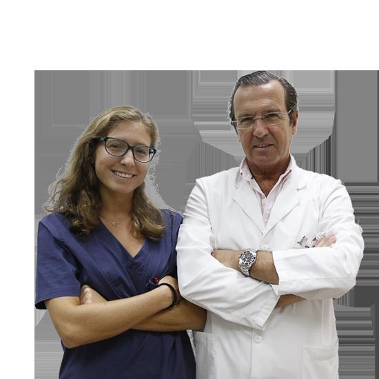 Fernando y Marta López-Fanjul equipo Medicos Clinica Rehberger